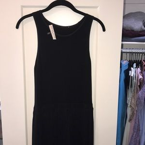 Trina Turk black and cream high wasted midi dress